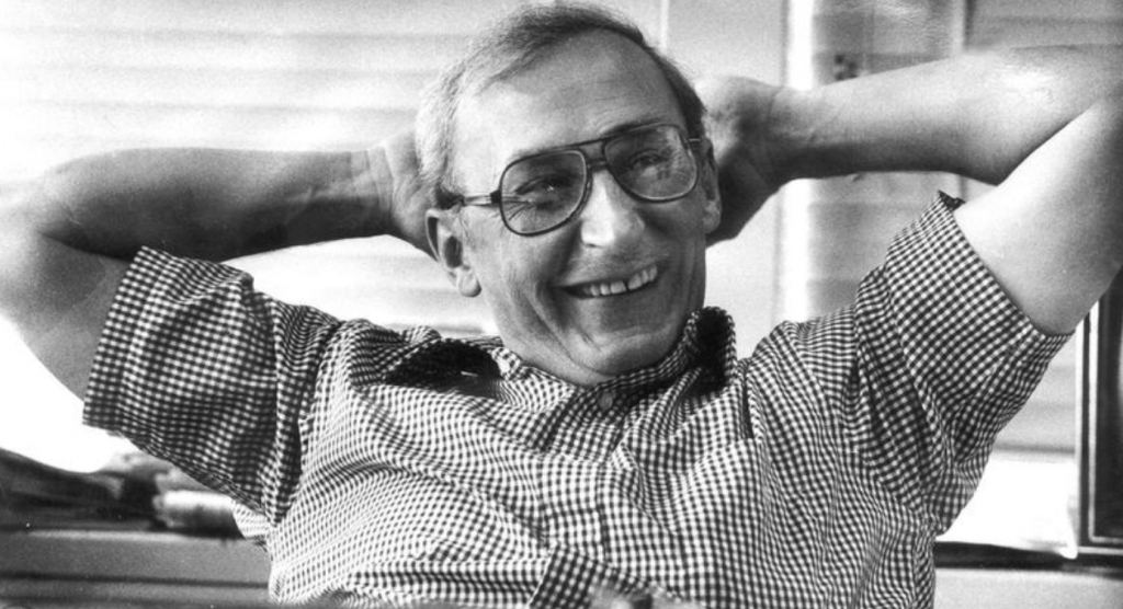 Mike Royko in his office at the Daily New (Royko Family Handout via the Chicago Tribune)
