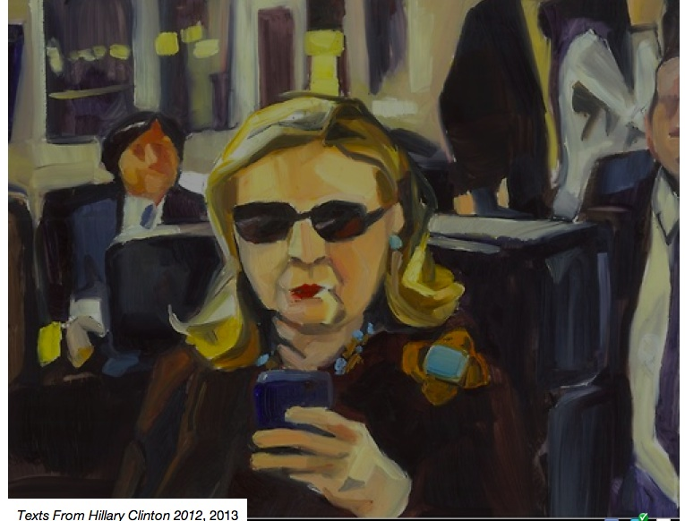 Hillary Clinton texting becomes a work of art