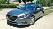 Reflex Blue Mica 2016 Mazda3 i 4-door casts a seductive silhouette among small family sedans. It just so happens to be a brilliant performer, while returning excellent fuel economy, too. <br> <br> Starting price is $17,845, with a well optioned i Grand Touring listing for $23,435.<br>
