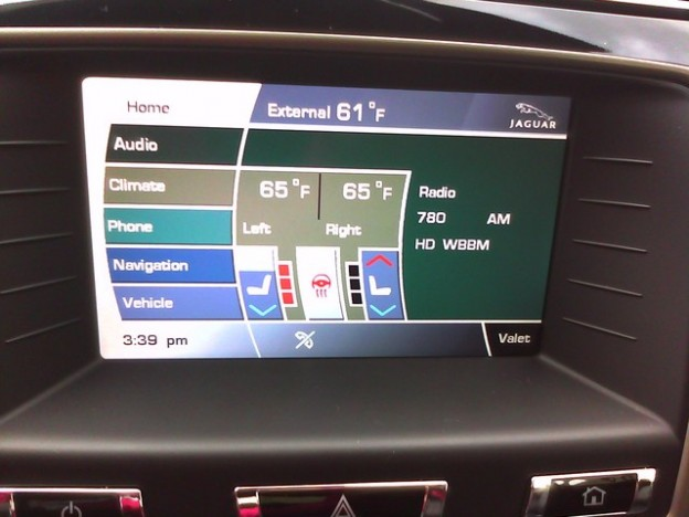 Today's Rant: Jaguar XKR home screen