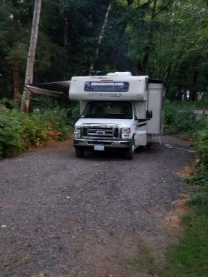 Our Road Bear RV. We loved the slide out and the canopy.