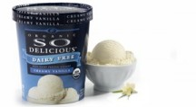 Turtle Mountain makes both a coconut-milk based line as well as a soy-milk based line of ice creams and other treats