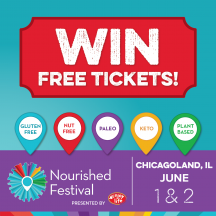 Win Free Tickets to the Nourished Festival Schaumburg, June 1-2, 2019 (Formerly the Gluten Free Expo)