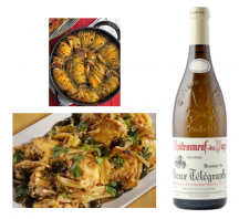 Chicken Thighs With Fennel, Lemon & Olives With 2010 Vieux Télégraphe Blanc