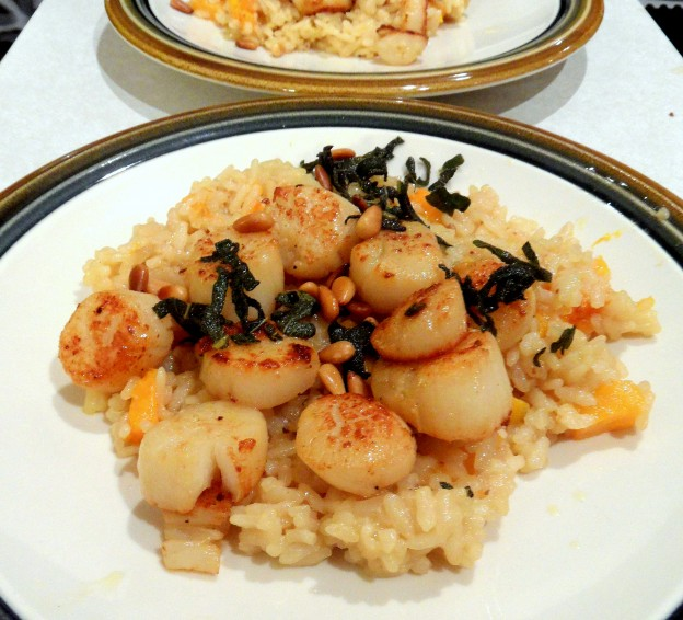 Butter Up Your Loved One with Sage Butter Scallops and Butternut Squash Risotto
