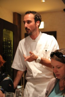 Chef Chris Macchia discusses the meal with us at Coco Pazzo.