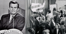 American Bandstand started in Philadelphia as an afternoon music and dance show. You would also see a musical act lip-synching to their latest hit song. It had a twenty-seven year run. The host, Dick Clark, looked like he never aged.
