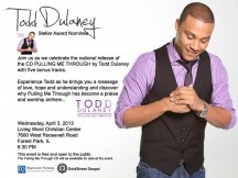 Todd Delany's CD Release-Praise Party-CHICAGO April 2013