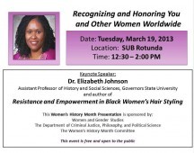 Empowerment Series For Women's History Month-Chicago State University