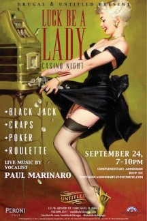 EVENT:  'Luck Be a Lady' Monthly Casino Night Kick-Off at @UntitledChicago