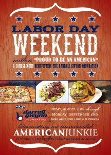 "@ChicagoJunkie Salutes #LaborDayWeekend with a ""Proud to Be an American"" 3-Course Menu #Chicago"