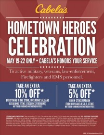 Cabelas to Celebrate memorial Day With Hometown Heroes Event