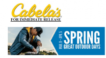 Cabela's Spring Great Outdoor days