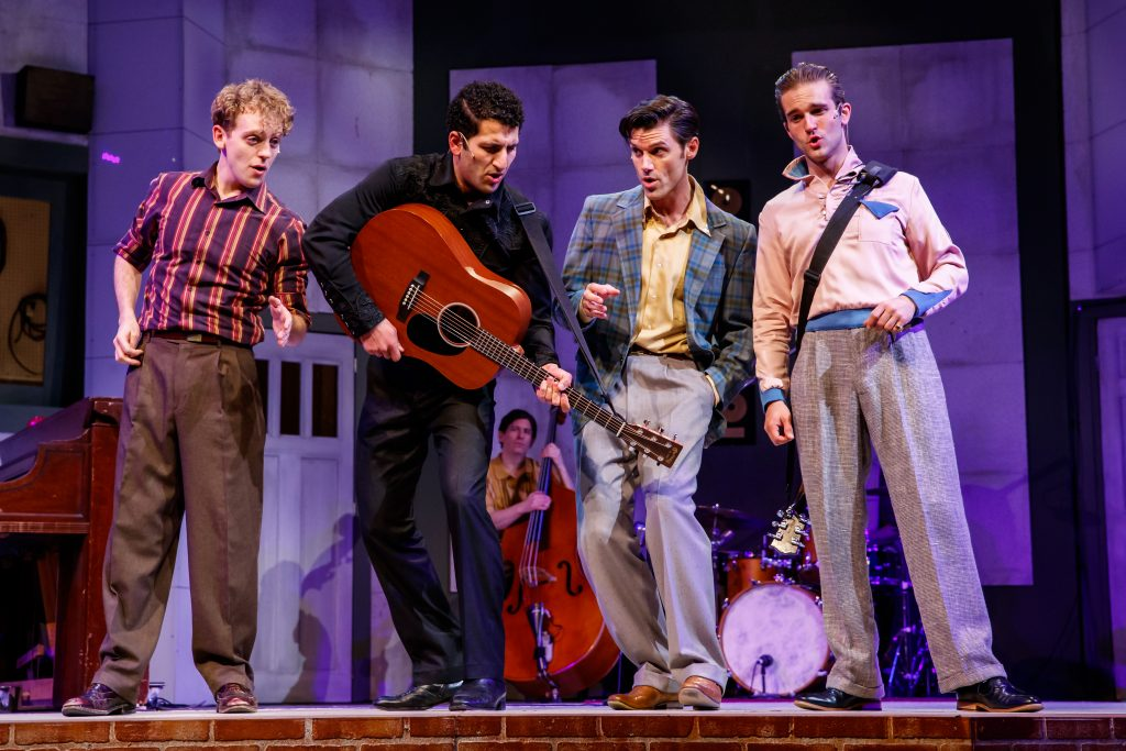 The musical Million Dollar Quartet at Theatre at the Center in Munster, Ind., Wednesday, February 13, 2019. Photo by Guy Rhodes