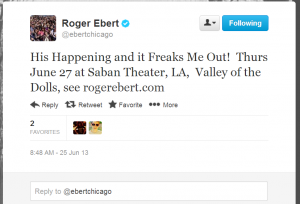Digital Afterlife -Roger Ebert Twitter