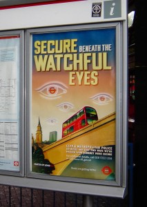 London Metro Security Sign