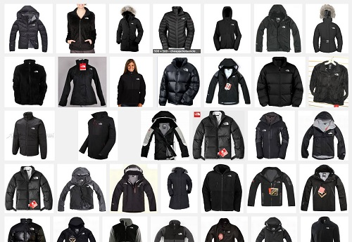 black North Face coats and jackets