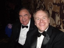 With my Sainted Father Llewelyn Pritchard at the Tony Awards