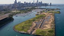 At Northerly Island, why would people want to look at an artificial pond instead of a real lake?
