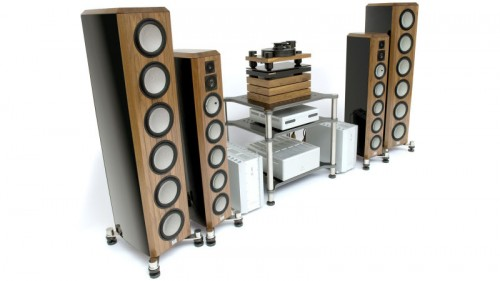 standing stereo sound system