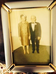 Ned and Rose Lewis on their fiftieth wedding anniversary