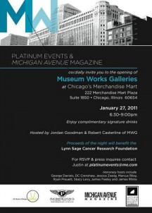 "Michigan Avenue Magazine Presents The Grand Opening of ""Museum Works Galleries"""