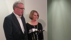 Before she became a Grand Bargain champion w/ Pres. Cullerton, Senate Republican Leader Radogno joined House Republican Leader Jim Durkin in blasting Speaker Madigan at Thompson Center on Sunday, Dec. 4, 2016, after a Gov Rauner/ leaders' meeting