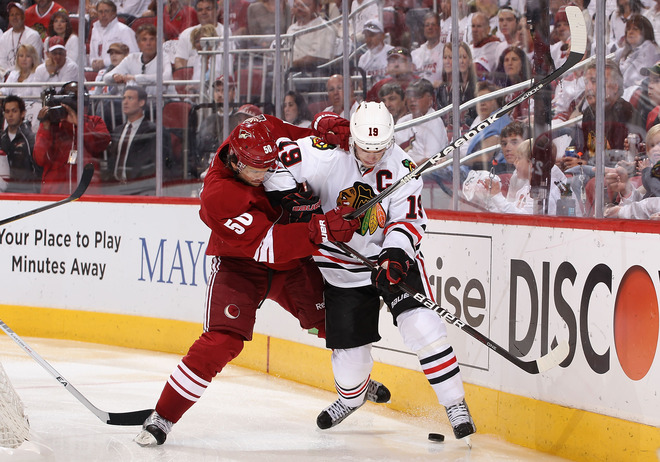 The Blackhawks and Coyotes go to OT for the 5th straight game: But, this was different.