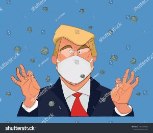 stock-vector-sao-paulo-brasil-march-a-caricature-of-president-trump-wearing-a-mask-to-face-the-1684205485