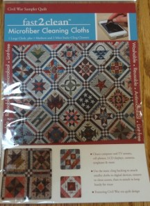I adore these little cleaning cloths. I have them all in place and when I am using them, I see the quilt pattern, perfect.
