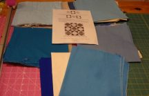 Here are all the fabrics I planned on using. I didn't end up using the greyish one.