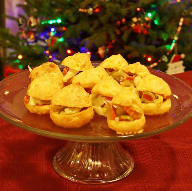 The Food Desert Project - Antipasto-filled Gougeres (Cheese Puffs)
