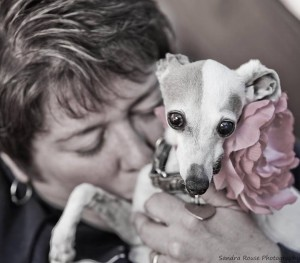 Theresa Strader and Daisy. Photo courtesy of the National Mill Dog Rescue.