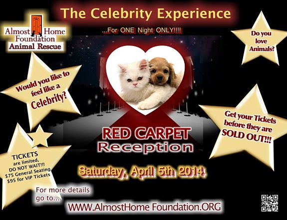 The Red Carpet/Vegas Experience will raise funds to cover the veterinary bills of the 35 puppy mill dogs rescued from the Puppy Parlor.
