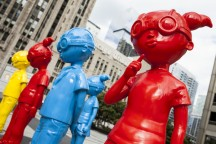 The Watch Public Street Art Sculptures: Bring Colorful Superheroes to Chicago's Pioneer Court