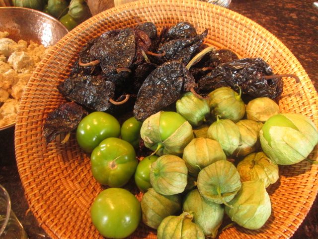 Tomatillo and ancho chili peppers played a big role in chef creations. Photo: Carole Kuhrt-Brewer