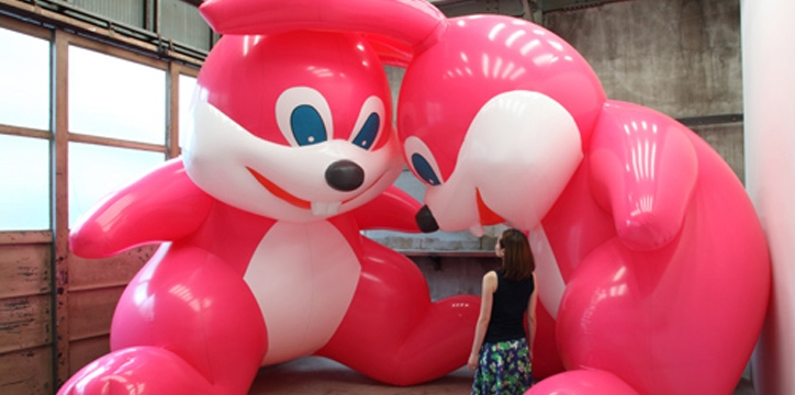 Blow Up: Inflatable Contemporary Art features artists who use air as a sculptural medium.