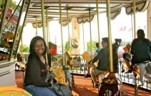 Me on the merry-go-round!
