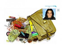 Angie Harmon opens up her purse contents to US Weekly. I think it would be pretty cool to kick it with her, so I can't knock her. But still, that a pretty unrealistic purse full of goodies for a mess like me.