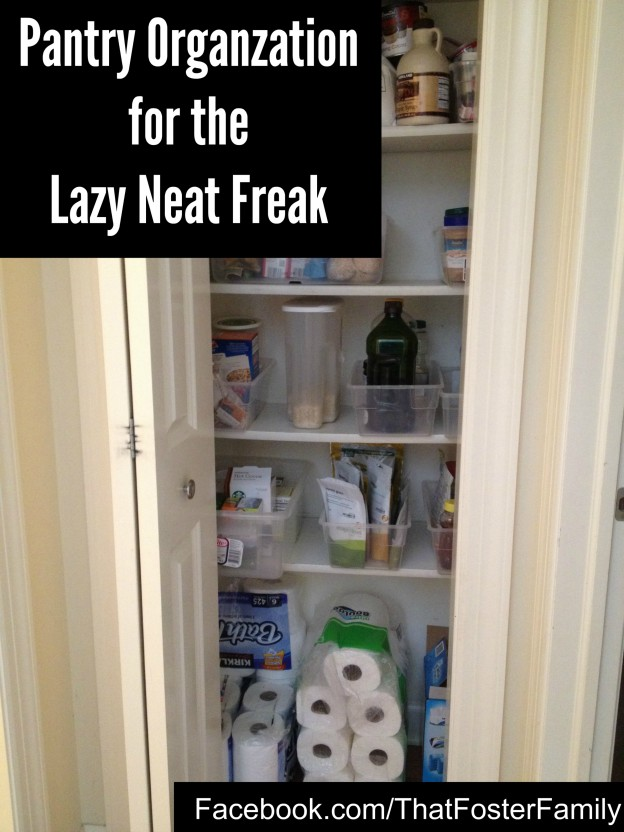 Pantry Organization for the Lazy Neat Freak