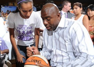 Magic was a regular at LA Sparks games before becoming the team's owner