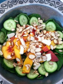 Meatless Monday: Grilled Peach Spinach Salad