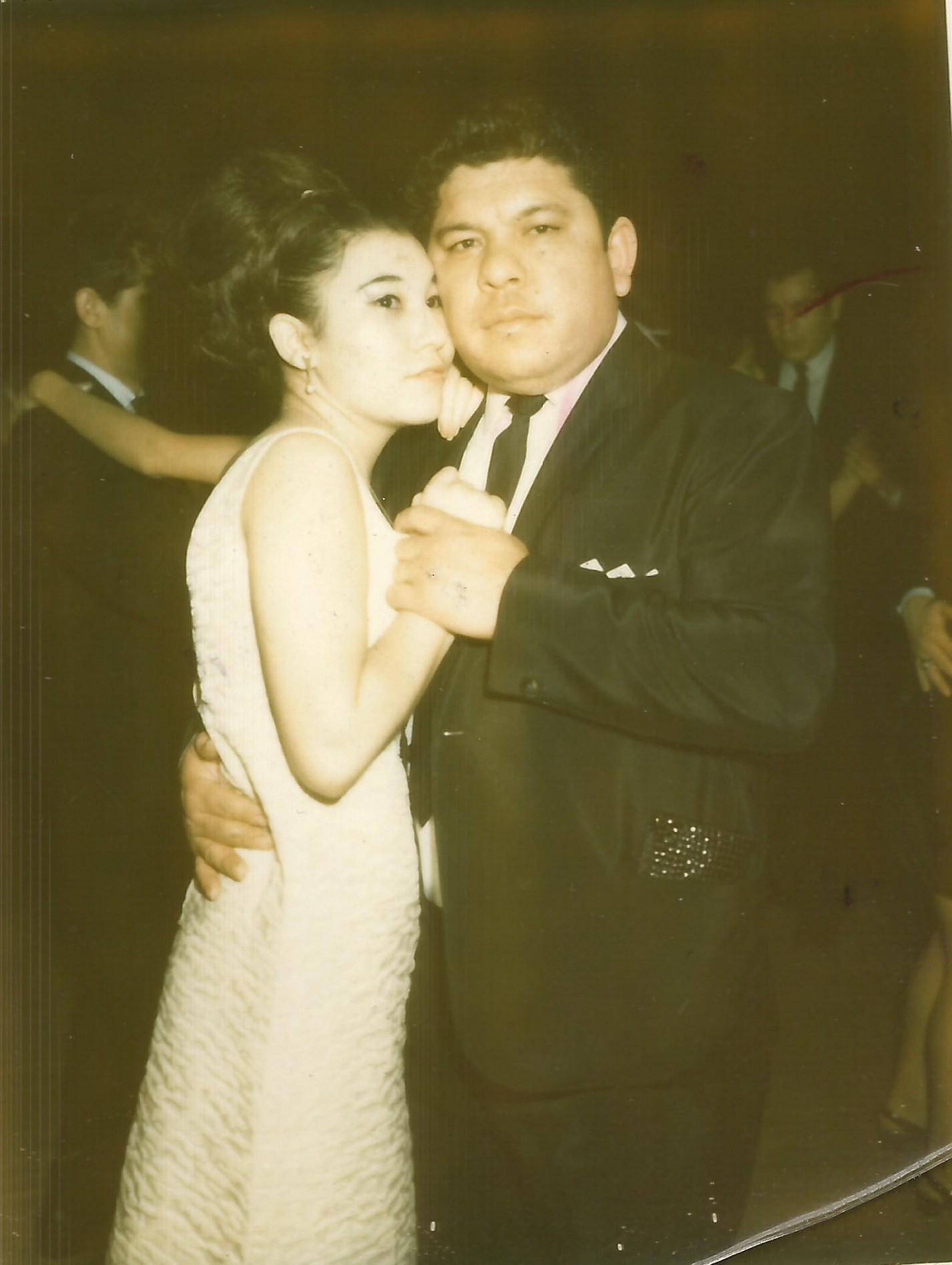 My mom and dad at the Aragon Ballroom, December 1967