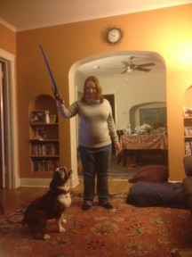 A Bulldog and His Toy Light Saber: A Healthy Activity, or Not?