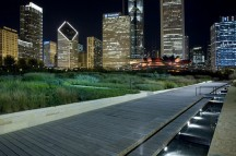 Millenniun Park's Lurie Garden is a beautiful secret garden where you can catch a breeze and dip your feet into the water while enjoying the Chicago skyline.
